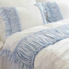 1000 images about making ruffled pillowcases on pinterest ruffle pillow ruffles and pillows blue shabby chic bedding