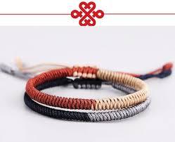 Original Tibetan Buddhist Tibetan Lucky Knot Bracelets <b>Handmade</b> ...