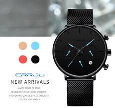 Relogio Masculino CRRJU <b>Mens Business</b> Dress <b>Watches</b> Luxury ...
