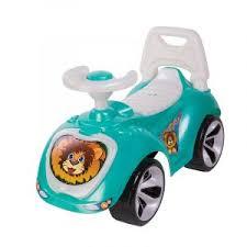<b>Каталка 758 Машина бирюзовая</b> для катания детей, вес ребенка ...