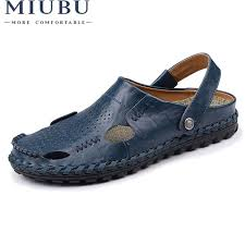 <b>MIUBU Fashion</b> Top Quality Mens Sandals Split Genuine Leather ...