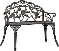 vidaXL <b>Bistro Bench</b> Romantic Charm Weather-Resistant and ...