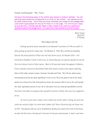 example biography essays example biography essays life history    an example of an autobiography essay personal narrative