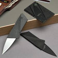 <b>Folding Credit Card Knife</b>, Surgical Steel, Black Or Polished | Credit ...