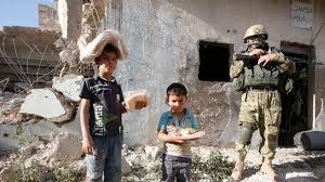 Image result for Residents of Syria's battered city of Aleppo f