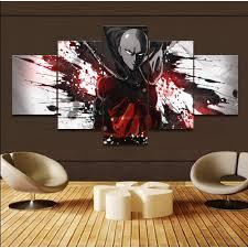 <b>5 Pieces</b> One-Punch Man Saitama 3D Background Wall Art <b>Cartoon</b> ...