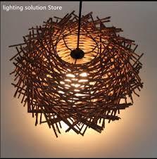 Online Shop <b>Nordic</b> Hand-woven Cany Art <b>Creative Lamp</b> Wood ...