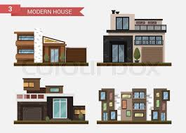 stock vector of vector flat illustration traditional and modern house family home office building home office
