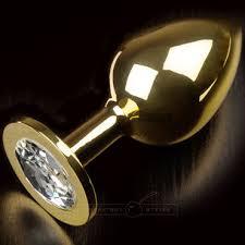 Пикантные штучки <b>Большая анальная пробка</b>, <b>золотая</b> - Condom ...