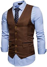 <b>Susan1999 Men</b> Casual Suit Vest Waistcoat <b>Solid Color</b> Sleeveless ...