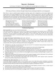 experienced supply chain manager resumefree resume templates