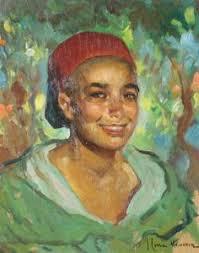 <b>Jose Cruz</b> Herrera - A Moroccan Boy Wih A Broad, Engaging Smile, <b>...</b> - cruz_herrera_jose-a_moroccan_boy_wih_a_broad_engaging_s~OM520300~10605_20130216_75_1370