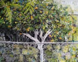 lemon tree x: original oil painting lemon tree  x