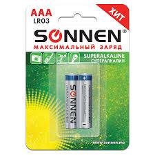 Купить <b>Батарейки SONNEN</b> Super Alkaline, <b>AAA</b> (LR03, 24А ...