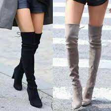 Faux Suede <b>Slim Women Boots Sexy</b> over the knee <b>women boots</b> ...