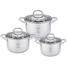 <b>Набор посуды 6 предметов</b> BE-621/6 со стеклянными крышками