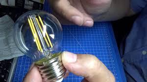 <b>Светодиодная лампа Feron LB</b>-61 Filament 5W - тест №38 ...