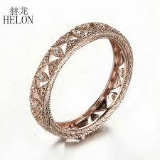<b>HELON</b> Solid 10K Rose Gold 100% <b>Genuine Natural</b> Diamonds ...