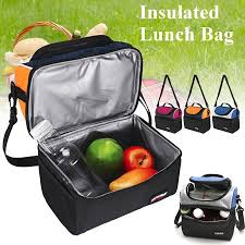 <b>SANNE</b> Dual Compartment <b>Insulated</b> Lunch Box Lunch Bag for ...
