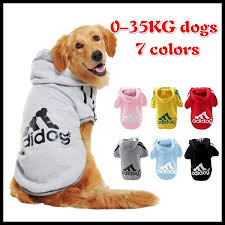 Winter <b>Warm Pet Dog Clothes</b> Soft Cotton Four-legs Hoodies Outfit ...