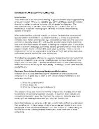 executive summary template example xianning executive summary template example summary examples executive business plan template it