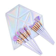 <b>Hot 10 Pcs</b> Unicorn <b>Spiral Makeup</b> Brushes Set Thread pincel ...