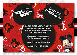 mickey mouse st birthday invitations for girls and boys party mickey mouse birthday party invitation for boys