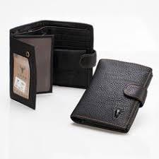 Men Top <b>Genuine Leather</b> Classic Button Snap <b>Card</b> Short <b>Wallet</b> ...