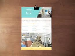 real estate branding be brightly branded flyer design