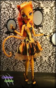 ooak couture fierce roar dress for monster high and ever after high dolls on