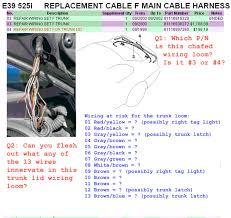 bmw x5 tail light wiring diagram bmw wiring diagrams