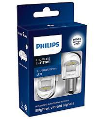 Светодиодные LED <b>лампы P21W</b> Osram и <b>Philips</b>