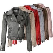 <b>2019 Yifsion</b> Women Suede Faux Leather Jackets Lady <b>Fashion</b> ...