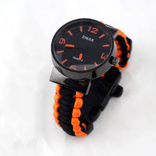 <b>Emak Outdoor Camping Survival</b> Watch Compass Whistle Paracord ...