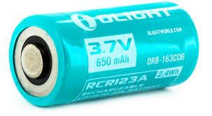 """<b>Аккумулятор</b> для фонаря <b>Olight</b> """"<b>ORB</b>-<b>163C06</b>"""", 16340, <b>Li</b>-<b>ion</b>, 3,7 ..."""