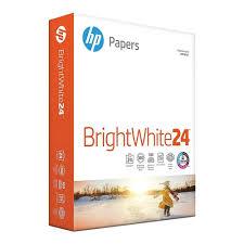 "<b>HP Bright White Inkjet</b> Paper, 8-1/2"" x 11"", 24 lb, 500 Sheets | www ..."