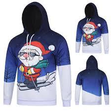 <b>Mens</b> Long Sleeve Hooded Sweatshirt Tops Blouse Printed Pullover ...