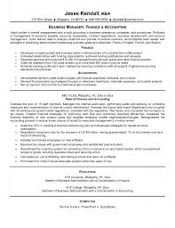 financial manager resume resume template sample resumes for automotive finance manager resume