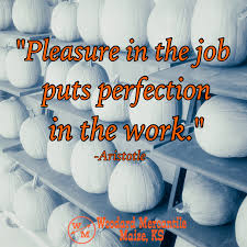 the hard work puts you where the good luck can you words pleasure in the job puts perfection in the work