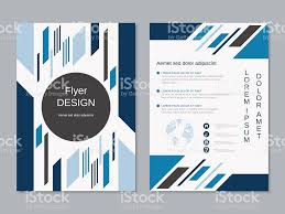 modern twosided professional flyer template stock vector art 1 credit