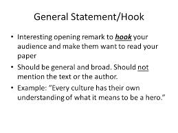 general statement essay examplegeneral statement hook