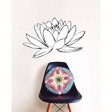 DWPK2105 - <b>Lotus Flower</b> Small <b>Wall</b> Art Kit- by WallPops