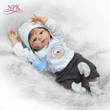 "<b>NPK bebes reborn boy</b> girl dolls 22"" soft silicone reborn baby dolls ..."