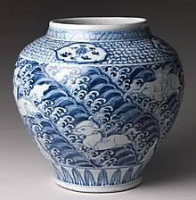 Blue and white <b>pottery</b> - Wikipedia