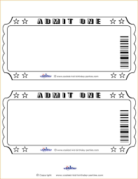 9 blank ticket template academic resume template raffle ticket template