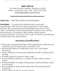 free housekeeping resumes to get you started  housekeeping resume