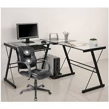 get quotations 3 piece glass computer desk and relaxzen 2 motor mid back leather office besi office computer desk