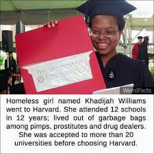 homeless girl d khadijah williams went to harvard merih news com homeless girl d khadijah williams went to harvard