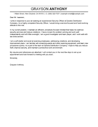 Leading Professional Security Officers Cover Letter Examples     Security Officers Cover Letter Sample