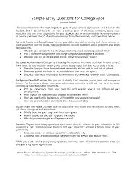 example college essay questions template example college essay questions